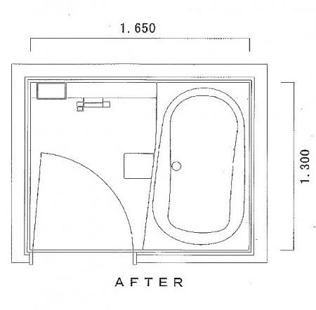 浴室13165 図面